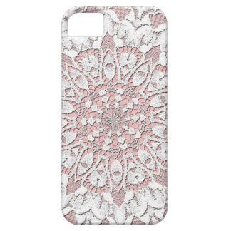 ヴィンテージのピンクのレース#5のiPhoneの場合 iPhone SE/5/5s ケース