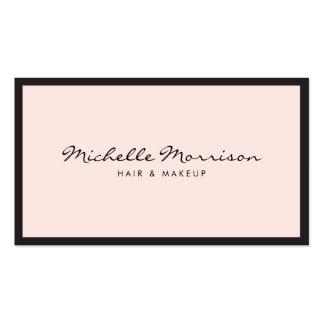 ヴィンテージのピンクの化粧および美しいの名刺 スタンダード名刺