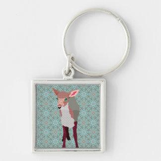 ヴィンテージのピンクの子鹿Keychain キーホルダー