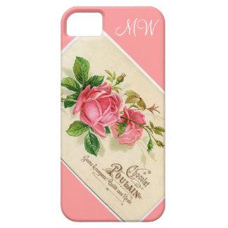 ヴィンテージのピンクの花柄はiPhone 5 -上がりました iPhone SE/5/5s ケース