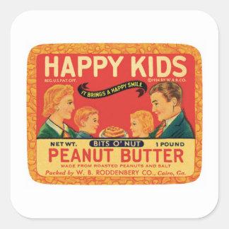 ヴィンテージのピーナッツバターの食料品のラベル スクエアシール