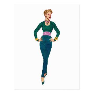 ヴィンテージのファッションのイメージの郵便はがき ポストカード