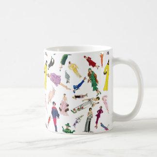 ヴィンテージのファッションのイラストレーションの女性 コーヒーマグカップ