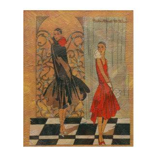ヴィンテージのファッションの女性 アクリルウォールアート