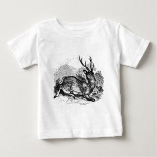 ヴィンテージのファロージカの木びき台の名前入りなイラストレーション ベビーTシャツ