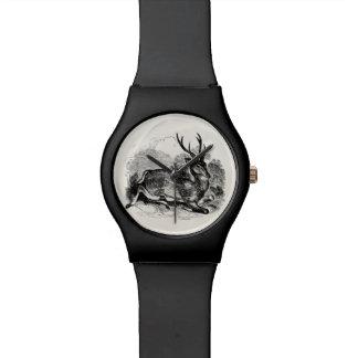 ヴィンテージのファロージカの木びき台の名前入りなイラストレーション 腕時計