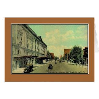 ヴィンテージのフィラデルヒィアのBroad Street、オペラハウス カード