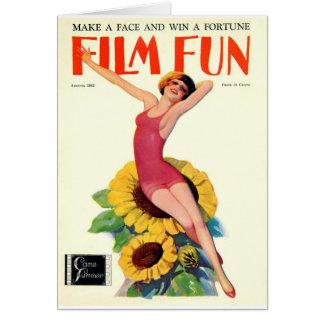 ヴィンテージのフィルムのおもしろいカバー-美しいを浸すこと カード