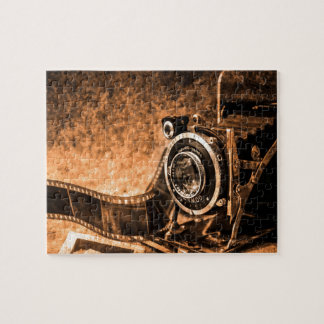 ヴィンテージのフィルムのカメラ-写真撮影 ジグソーパズル