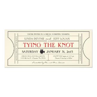 ヴィンテージのフィルムのチケットの招待状 10.2 X 23.5 インビテーションカード
