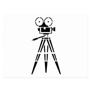 ヴィンテージのフィルムの映画のセットのカメラ ポストカード