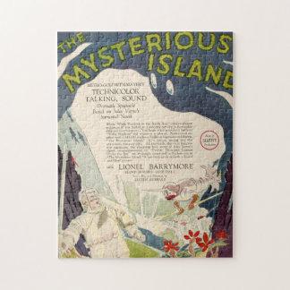 ヴィンテージのフィルム映画神秘的な島の航海のな海 ジグソーパズル