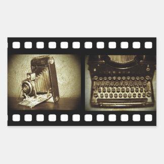 ヴィンテージのフィルム 長方形シール