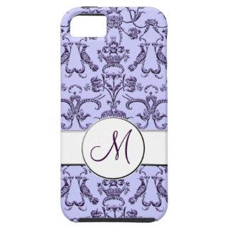 ヴィンテージのフィレンツェのダマスク織(モノグラム) (薄紫) iPhone SE/5/5s ケース