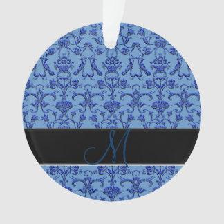 ヴィンテージのフィレンツェのダマスク織(青い) オーナメント