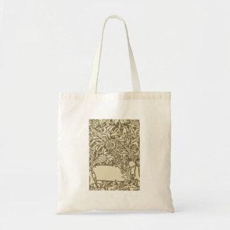 ヴィンテージのフクロウのアールヌーボーの鳥のデザイン トートバッグ