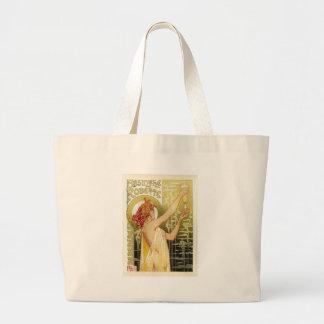 ヴィンテージのフランスのなアブサン広告 ラージトートバッグ