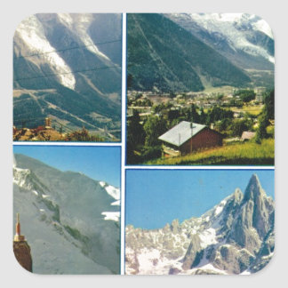 ヴィンテージのフランスのなアルプス、シャモニーMt Blanc スクエアシール