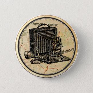 ヴィンテージのフランスのなカメラのパーティーボタンPin 5.7cm 丸型バッジ