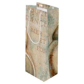 ヴィンテージのフランスのなコンシュの貝 ワインギフトバッグ