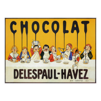 ヴィンテージのフランスのなチョコレートは台所芸術ポスターをからかいます ポスター