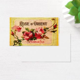 ヴィンテージのフランスのなバラの名刺 名刺