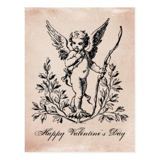 ヴィンテージのフランスのなバレンタインの天使の郵便はがき 葉書き