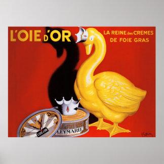 ヴィンテージのフランスのなパテの食糧芸術ポスター金ガチョウ ポスター