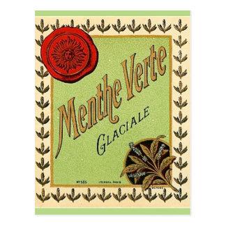 ヴィンテージのフランスのなリキュールのラベルの郵便はがき ポストカード