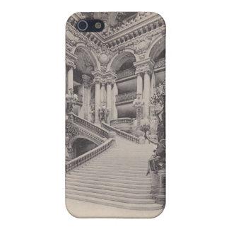 ヴィンテージのフランスのな内部の郵便はがきのiPhone 5の場合 iPhone SE/5/5sケース