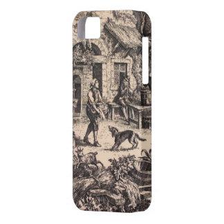 ヴィンテージのフランスのな国のToileのiPhone 5 iPhone SE/5/5s ケース