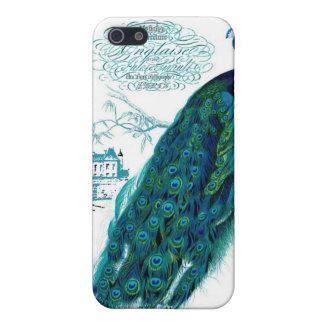 ヴィンテージのフランスのな孔雀のプリント iPhone 5 COVER