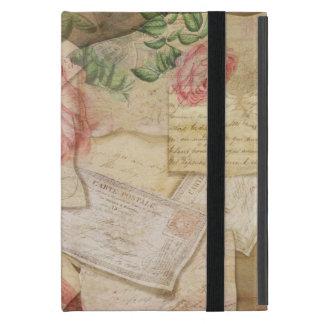 ヴィンテージのフランスのな手紙および郵便はがき iPad MINI ケース