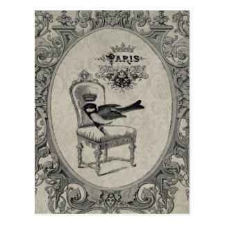 ヴィンテージのフランスのな椅子の郵便はがき ポストカード