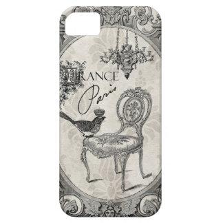 ヴィンテージのフランスのな椅子のiphone 5の場合 iPhone SE/5/5s ケース