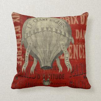ヴィンテージのフランスのな気球の装飾用クッション クッション