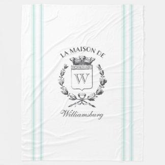ヴィンテージのフランスのな水のカチカチ音をたてる家紋の投球 フリースブランケット