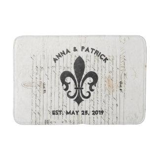 ヴィンテージのフランスのな短命なものの(紋章の)フラ・ダ・リのカスタム バスマット