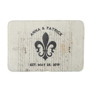 ヴィンテージのフランスのな短命なものの(紋章の)フラ・ダ・リの習慣 バスマット