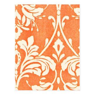 ヴィンテージのフランスのな織物のアラベスク ポストカード