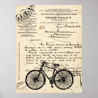 ヴィンテージのフランスのな自転車ポスター ポスター