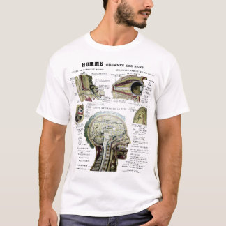 ヴィンテージのフランスのな解剖学のワイシャツ Tシャツ