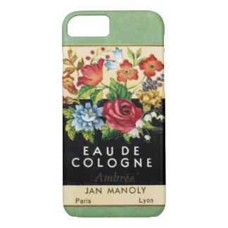 ヴィンテージのフランスのな香水の電話箱 iPhone 7ケース