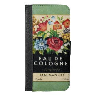 ヴィンテージのフランスのな香水のSmartphoneの財布 iPhone 6/6s Plus ウォレットケース