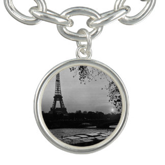 ヴィンテージのフランスパリエッフェル塔の日没1970年 チャームブレスレット