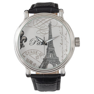 ヴィンテージのフランス人のエッフェル塔の腕時計 腕時計