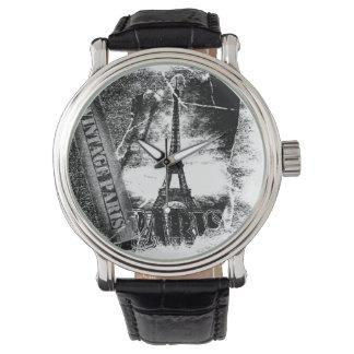 ヴィンテージのフランス人のエッフェル塔パリ2 腕時計