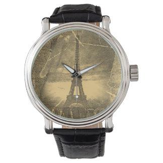 ヴィンテージのフランス人のエッフェル塔パリ3 腕時計