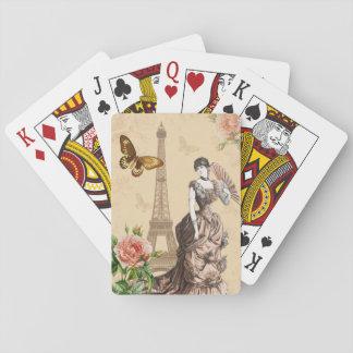 ヴィンテージのフランス人のファッションのエレガントな遊ぶカード トランプ