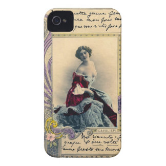 ヴィンテージのフランス人の郵便はがき Case-Mate iPhone 4 ケース